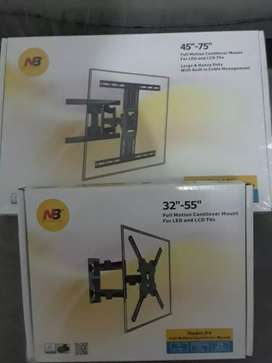 Bases para televisores instaladas