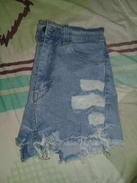 Shorts de jeans las locas