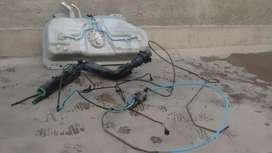 Tanque de nafta con bomba y cañerías para siena