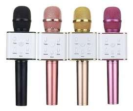 Micrófonos Karaoke Bluetooth + Parlante + Estuches
