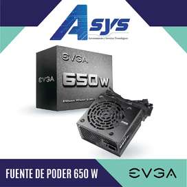 Fuente de poder EVGA 650W