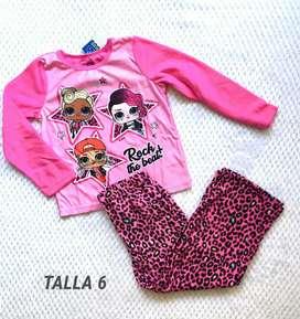 Pijama niña talla 6 L.O.L.