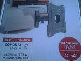 "SOPORTE CON BRAZO MOVIL PARA PANTALLA LED/LCD FORMATOS 17""-42"""