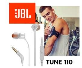 Auriculares JBL Tune 110 Blanco original con garantia y entrega a domicilio.