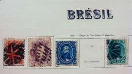 Sellos postales de Brasil 1866 – 1876