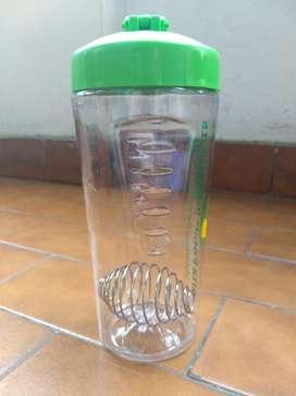 Botella para agua y preparados de proteínas