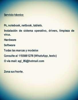 Reparacion de telefonos celulares, pc, notebook, netbook, tablets.
