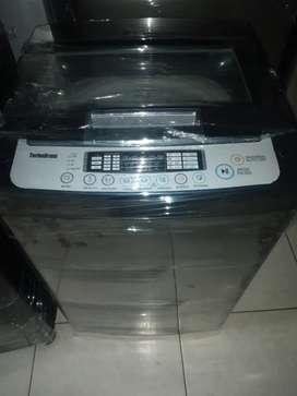 Lavadora lg tapa de vidrio turbodrum de 19 lbs con mantenimiento al día