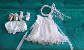 Vestido de Niña para  Bautizo 6-8 Meses