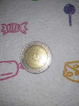Moneda de 1 mal acuñada.