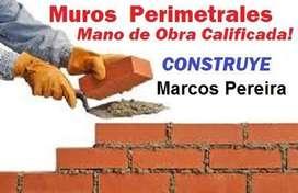 Medianeras y cierres perimetrales Mano de Obra Calificada