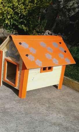 Casa para Perros Naranja