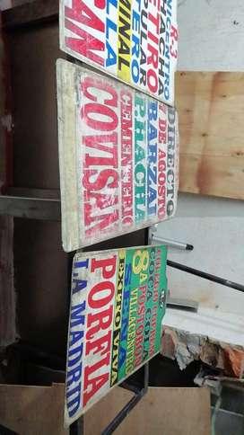 Letreros Bus, Anuncios