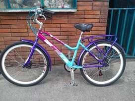 Se vende bicicleta playera para dama