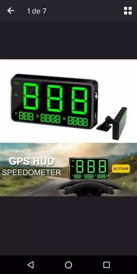 """Velocímetro universal digital gps 4.3"""" con alarma de exceso de velocidad mod C80"""