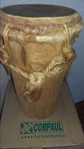 tambor en madera 34cm alto x 65cm de circunferencia