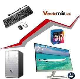 Computador 27 Pulgadas Cpu Hp I7 9na 8gb Optan 16gb Wifi 1tb