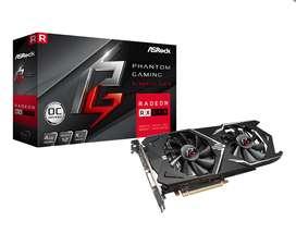 Tarjeta Video AMD RX 570 4GB Asrock Phantom Gaming ddr5