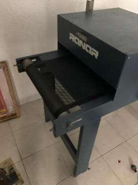 Secadora industria para serigrafia