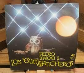 Long Play Lp Dísco Acetato Pasta Vinyl Pedro Maican y Los Cumbacheros