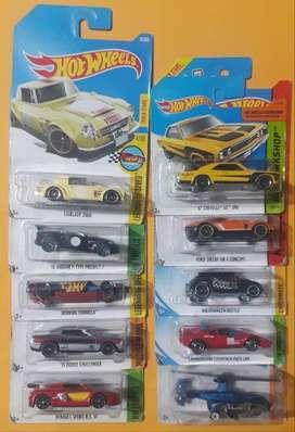 Hot Wheels Lote 10 carros Ediciones Pasadas Nuevos Coleccionables L5