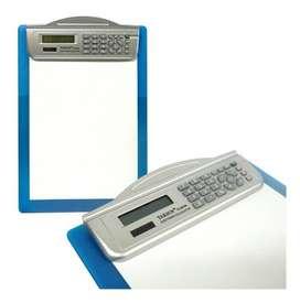 - Tabla Calculadora en Plástico con Clip para Hojas