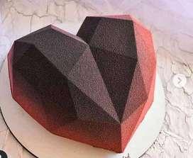 Heart - shaped cake pan / Molde para pastel con forma de corazón