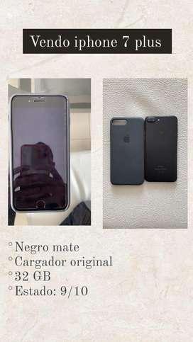Se vende iphone 7 plus negro mate