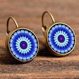 Aretes Mandala Vintage Para Mujer Varios Estilos