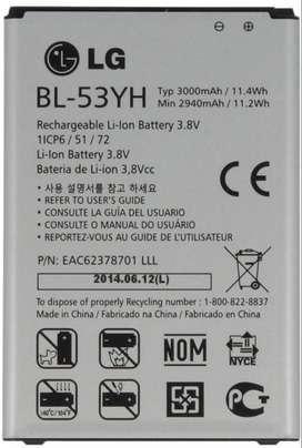 Bateria Lg G3 Optimus D855 Bl53yh Original