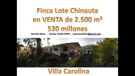 Finca Lote Chinauta  en VENTA de 2.500 m2
