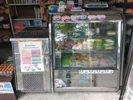 Congelador y refrigerador de vitrina