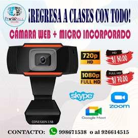 CAMARA WEB HD Y FULL HD