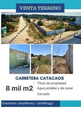 VENTA DE TERRENO CARRETERA CATACAOS - PIURA.