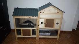 Casa para  conejo desarmable con iluminación  medidas 140 largo x120 de alto x 60 de profundidad