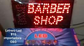 Letrero Led Barber Shop