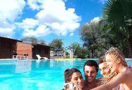 gc64 - Cabaña para 2 a 4 personas con pileta y cochera en Termas De Rio Hondo