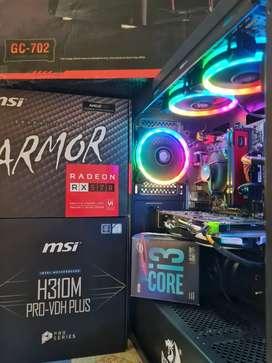 PC GAMER I3 9100F 4.2Ghz RX 570 4GB 16GB RAM SSD 240 DISCO 1TB 1000GB PC NUEVA A ESTRENAR GARANTIA