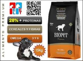 BIOPET Premium Perro Cachorro Bolsa 15Kg.