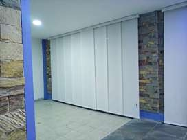 Persianas cortinas blackouts panel japonés sheer elegance verticales