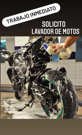 Se requiere lavador de motos