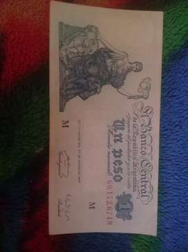 Vendo Billete de $1 Moneda Nacional