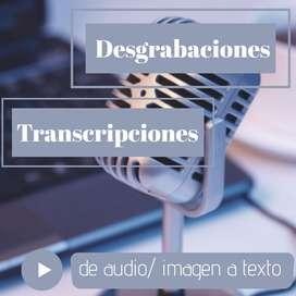 Desgrabaciones/ transcripciones