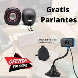 Venta de Webcam con Micrófono integrado + Obsequio Parlantes
