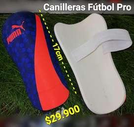 CANILLERAS PARA FÚTBOL PRO 17CM.