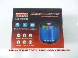 Parlante MAXI MHK190BN con bluetooth NUEVO