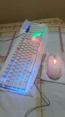 Mouse y teclado gamer