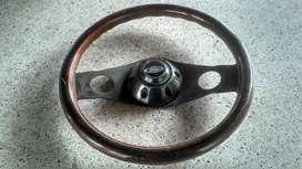 Volante Antiguo de Madera Fiat 800