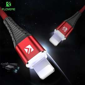 Cable 8Pin USB Led iPhone 5,6,7,8 IOS12 1Mt Light Night