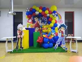 Decoración y recreación para la fiesta de cumpleaños